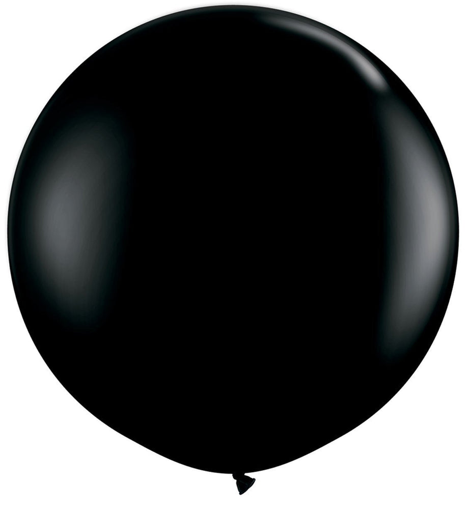 LATEX JUMBO BALLOON 90CM - FASHION ONYX BLACK