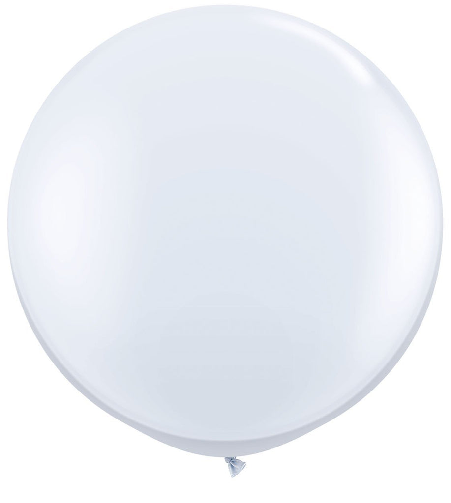 LATEX JUMBO BALLOON 90CM - FASHION WHITE PK 2