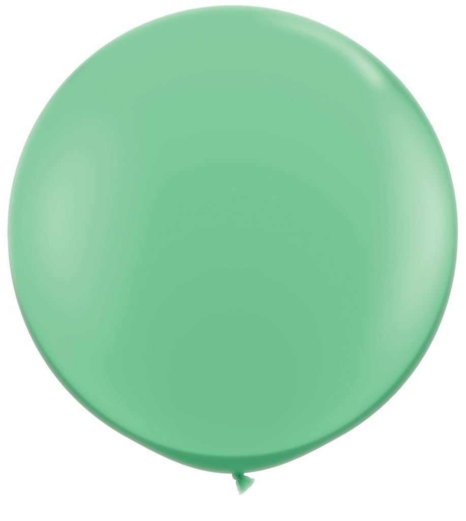 LATEX JUMBO BALLOON 90CM - FASHION WINTERGREEN PK 2