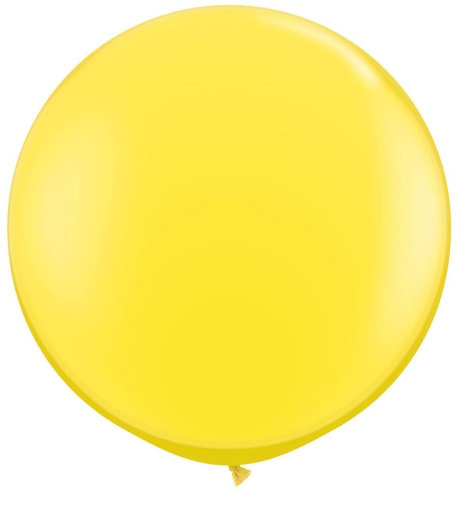 LATEX JUMBO BALLOON 90CM - FASHION YELLOW PK 2