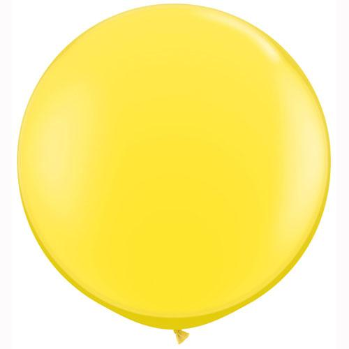 LATEX JUMBO BALLOON 90CM - JEWEL CITRINE YELLOW PK 2