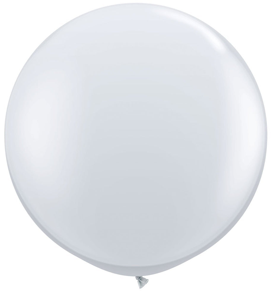 LATEX JUMBO BALLOON 90CM - JEWEL DIAMOND CLEAR PK 2