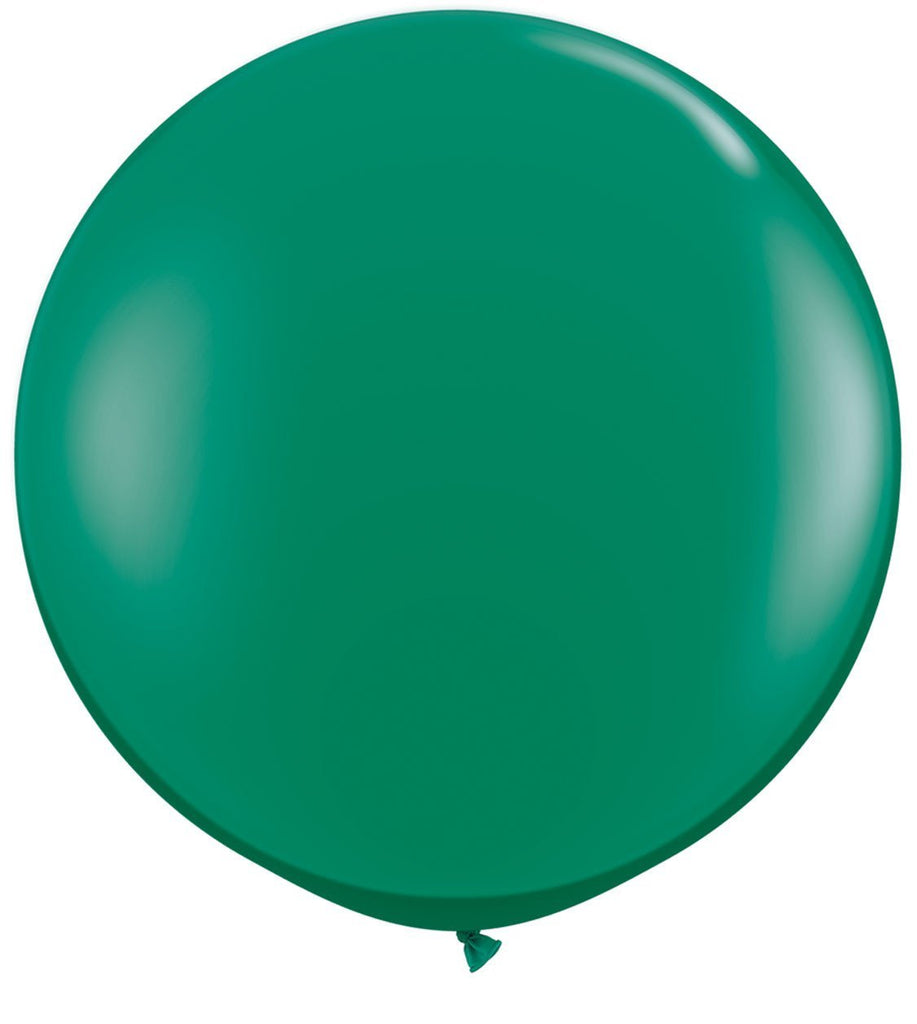 LATEX JUMBO BALLOON 90CM - JEWEL EMERALD GREEN PK 2