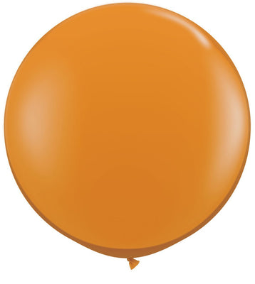 LATEX JUMBO BALLOON 90CM - JEWEL MANDARIN ORANGE PK 2