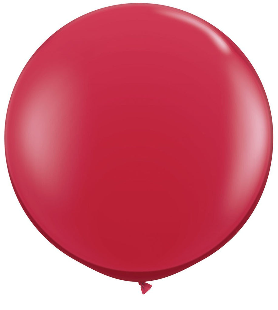 LATEX JUMBO BALLOON 90CM - JEWEL RUBY RED