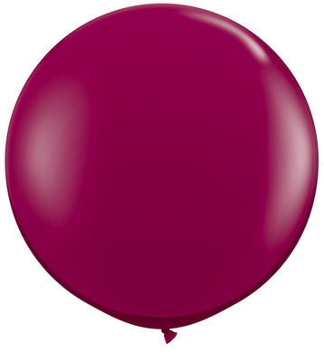 LATEX JUMBO BALLOON 90CM - JEWEL SPARKING BURGUNDY