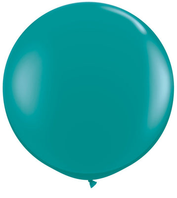 LATEX JUMBO BALLOON 90CM - JEWEL TEAL PK 2