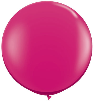 LATEX JUMBO BALLOON 90CM - JEWEL MAGENTA PK 2