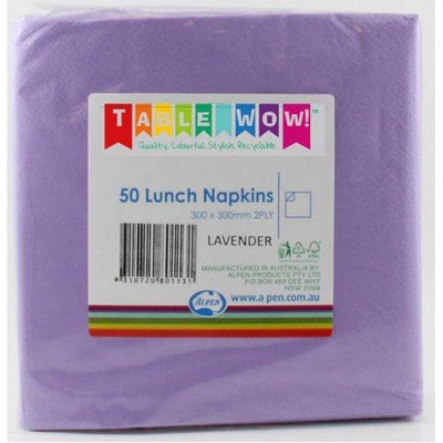 LUNCH NAPKIN - 2PLY LAVENDER PK50