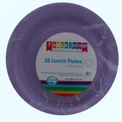 LUNCH PLATES - LAVENDER PK25