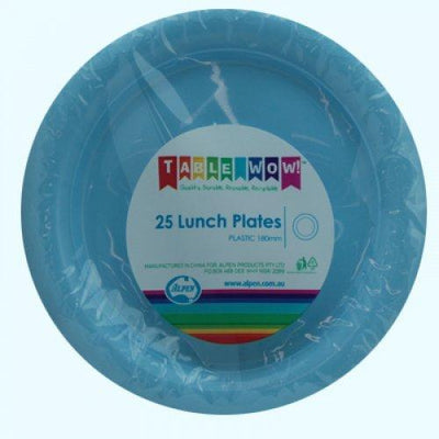 LUNCH PLATES - LIGHT BLUE PK25