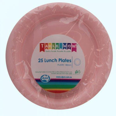 LUNCH PLATES - LIGHT PINK PK25