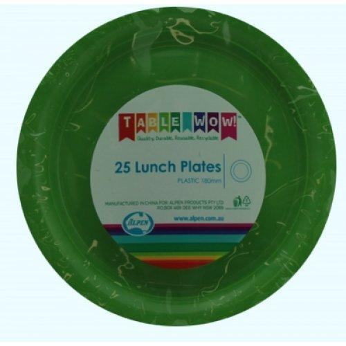 LUNCH PLATES - LIME PK25