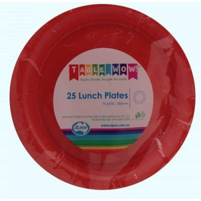 LUNCH PLATES - ORANGE PK25