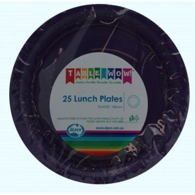 LUNCH PLATES - PURPLE PK25