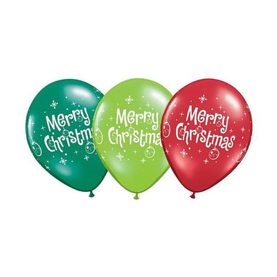 PRINTED LATEX BALLOON 28CM - CHRISTMAS PK 25
