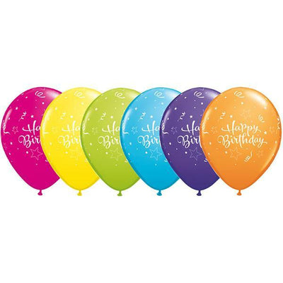 PRINTED LATEX BALLOON 28CM - HAPPY BIRTHDAY ASSORTMENT PK 50