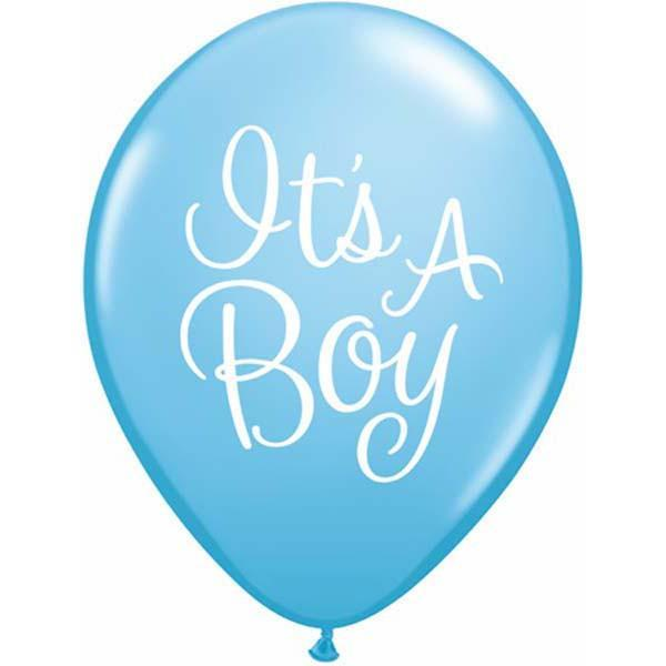 PRINTED LATEX BALLOON 28CM - IT'S A BOY CLASSY PK 50