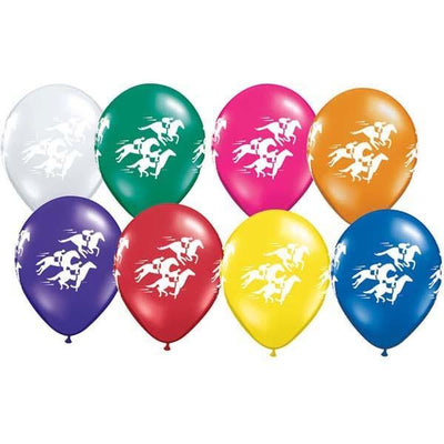 PRINTED LATEX BALLOON 28CM - MELBOURNE CUP RACE HORSES AST PK 25