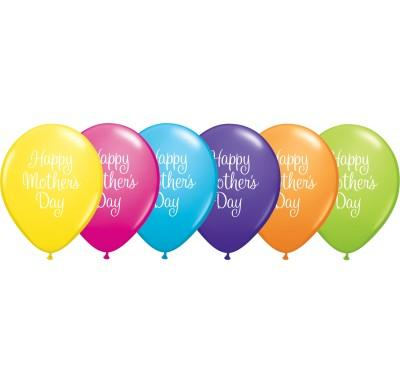 PRINTED LATEX BALLOON 28CM - MOTHERS DAY CLASSY SCRIPT AST PK 25