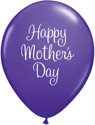 PRINTED LATEX BALLOON 28CM - MOTHERS DAY CLASSY SCRIPT PURPLE