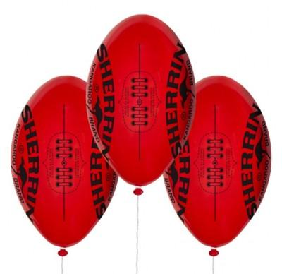 PRINTED LATEX BALLOON 9 INCH - AFL Oval Football PK 50