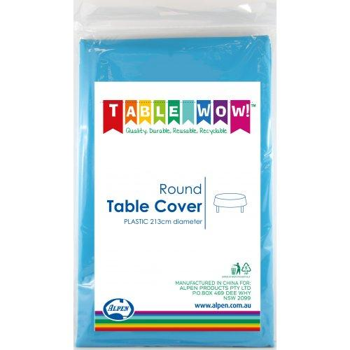 TABLE COVER - ROUND AZURE BLUE EACH