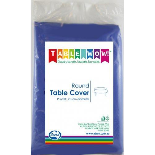 TABLE COVER - ROUND DARK BLUE EACH