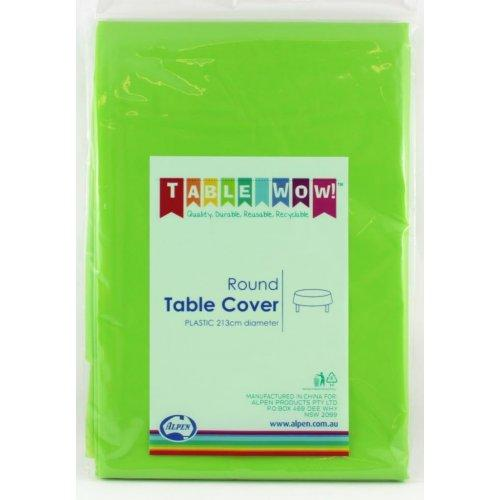 TABLE COVER - ROUND LIME EACH