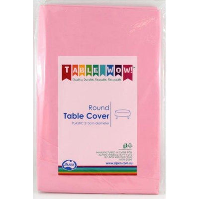 TABLE COVER - ROUND PINK EACH