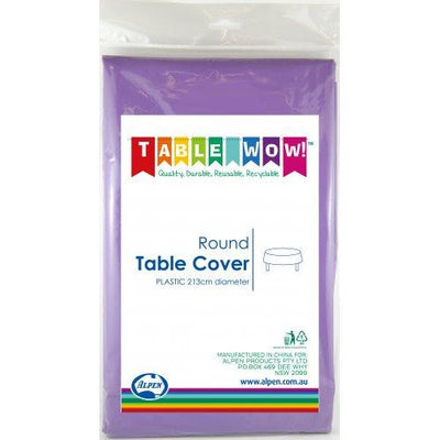 TABLE COVER - ROUND PURPLE EACH