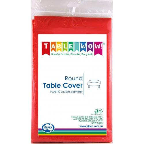 TABLE COVER - ROUND RED EACH