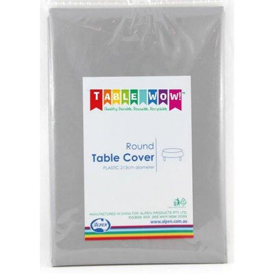 TABLE COVER - ROUND SILVER EACH