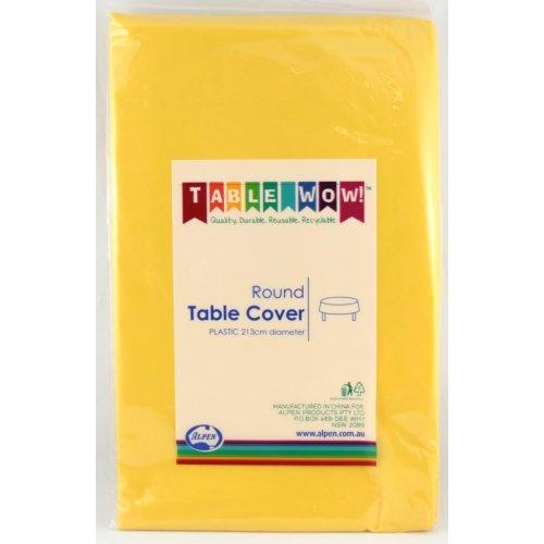 TABLE COVER - ROUND YELLOW EACH