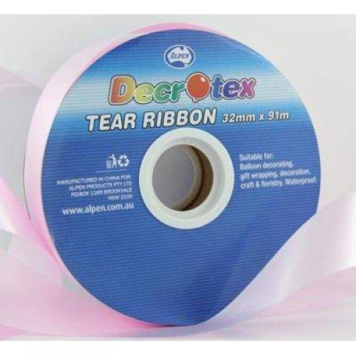 TEAR RIBBON 32MM X 91M - LIGHT PINK