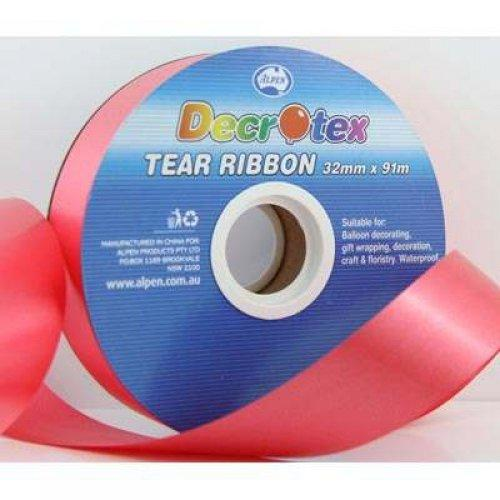TEAR RIBBON 32MM X 91M - RED