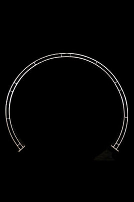 Round Wedding Frame - White