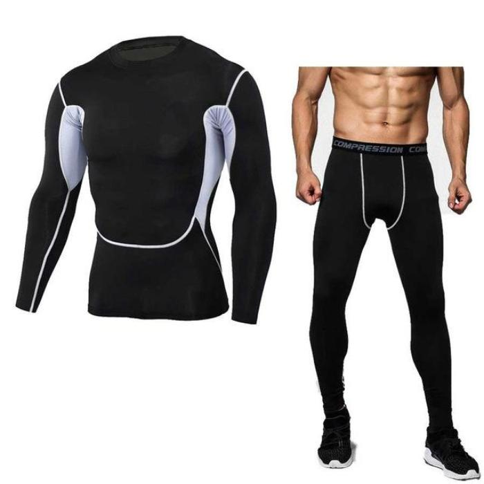 Black & White Thermal Underwear Set