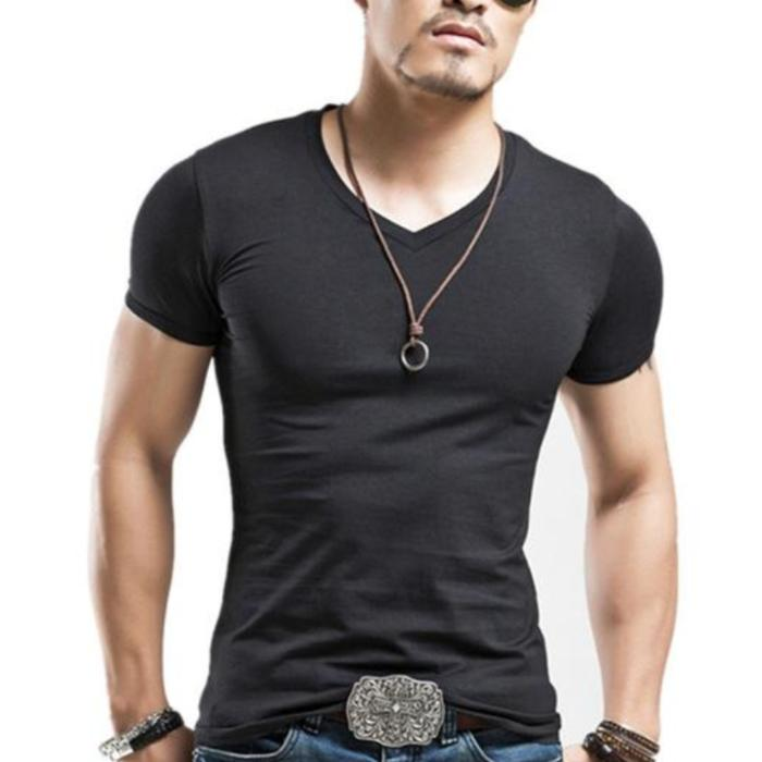 Casual V-Neck T-Shirt