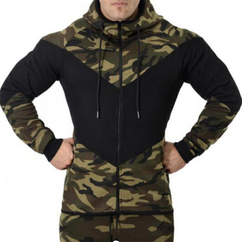 Camouflage Fitness Hoodie