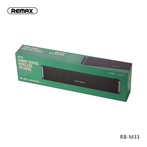REMAX-RB-M33 FABRIC SERIES WIRELESS SPEAKER,Speaker,Bluetooth Speaker,Wireless Speaker,Desktop Speaker, Portable Speaker,Mini Bluetooth Speaker,wireless speaker for Phone,Computer ,Music ,iPhone,iPad,Tablet,Bluetooth Speaker with SD Card,Flash Drive,Aux