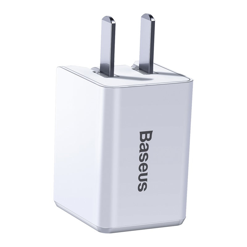 BASEUS TRAVELER PD QUICK CHARGER With TYPE.C TO iPhone PD 1Meter Cable (18W) (3A)Travel Charger, Charger , USB Phone Charger , Mobile Phone Charger , Smart Phone Charger , quick charger , fast charger  ,  wall charger , Portable Charger