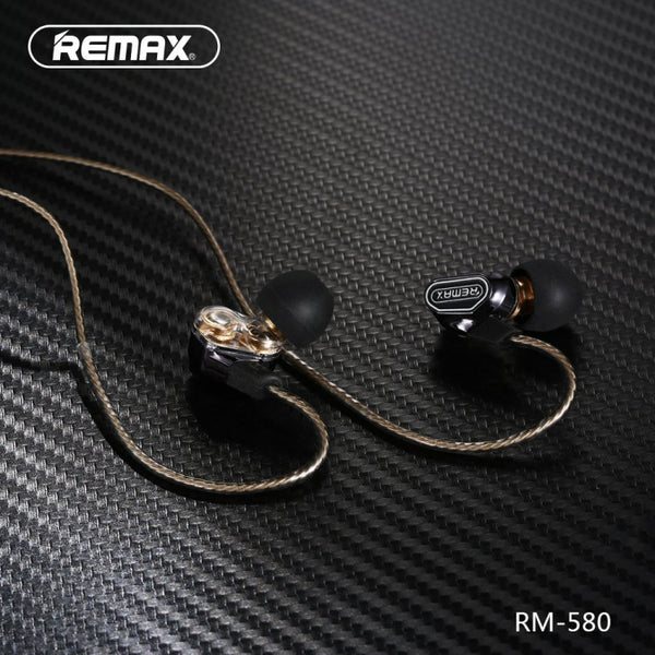 REMAX RM-580 4Speaker ,Earphone,Wired Earphone ,Best wired earphone with mic ,Hifi Stereo Sound Wired Headset ,sport wired earphone ,3.5mm jack wired earphone ,3.5mm headset for mobile phone ,universal 3.5mm jack wired earphone,ကြိုးနားကြပ်,နားကြပ်