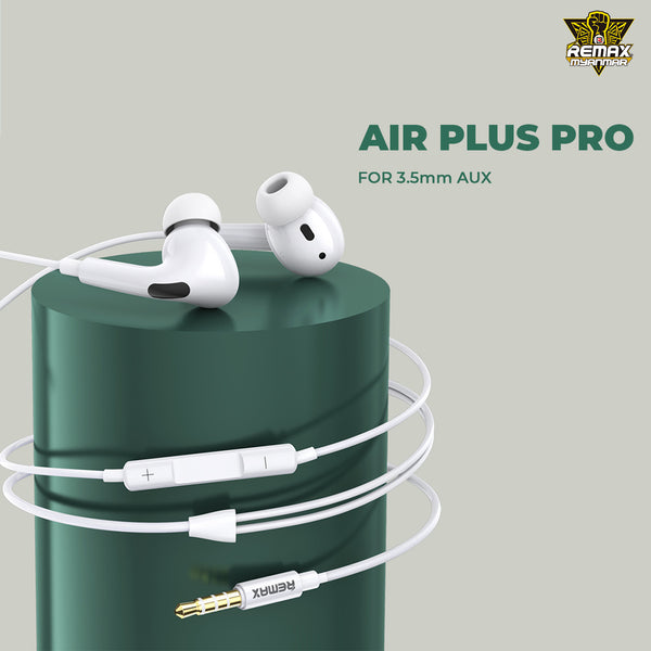 REMAX RM-310 Air Plus Pro,Earphone,Wired Earphone,Best wired earphone with mic ,Hifi Stereo Sound Wired Headset ,sport wired earphone ,3.5mm jack wired earphone ,3.5mm headset for mobile phone ,universal 3.5mm jack wired earphone,ကြိုးနားကြပ်,နားကြပ်