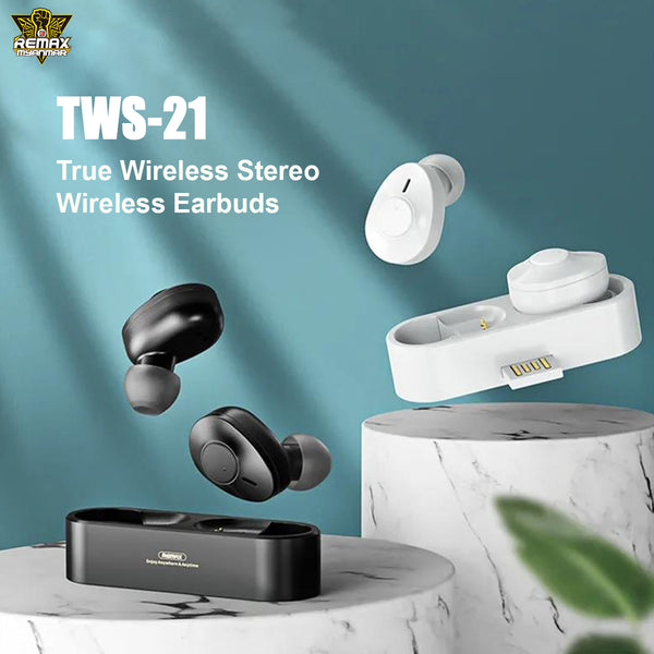 REMAX-TWS-21 TRUE WIRELESS STERREO EARBUDS (5.0 WIRELESS)
