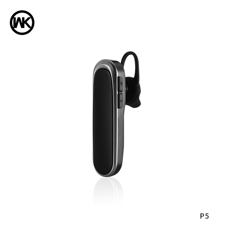WK P5 Bluetooth Earphone , Single Bluetooth Earphone, Wireless Bluetooth Headset , Single Bluetooth Earbuds for music , Mono Bluetooth Headset , Best noise canceling Bluetooth Headset , Cheap Bluetooth Headset , ကြိုးမဲ့ဘလူးတုနားကြပ်