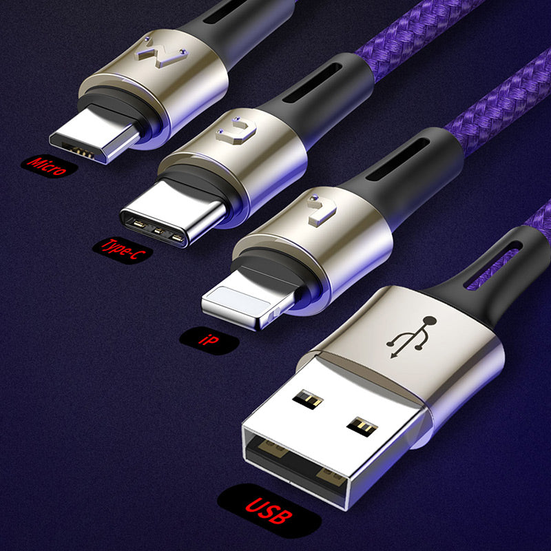 BASEUS CARING TOUCH SELECTION 3 IN 1 CABLE USB CABLE,Cable , 3 in 1 cable , 3 in 1 USB Cable , 3 in 1 charging cable , Phone Charging Cable ,3 in 1 cable for mobile phone  , 3 in 1 ( type c / micro / lightning ) USB Charging Cable