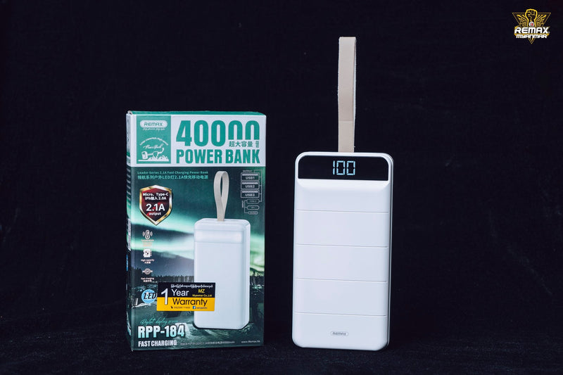 40000mAh Power Bank Leader Series 2.1A Fast Charging RPP-184