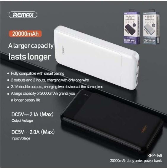 RPP-148 JANY 20000mAh Power Bank(5V/21.A Dual USB)