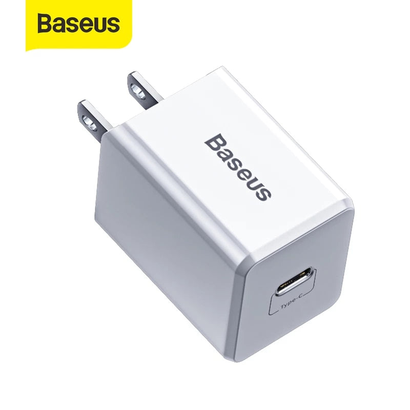 BASEUS TRAVELER PD QUICK CHARGER With TYPE.C TO iPhone PD 1Meter Cable (18W) (3A)